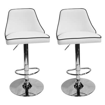 Chontel 32 Swivel Bar Stools Color: White