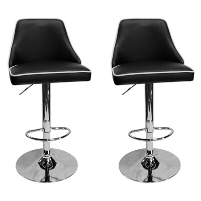 Chontel 32 Swivel Bar Stools Color: Black
