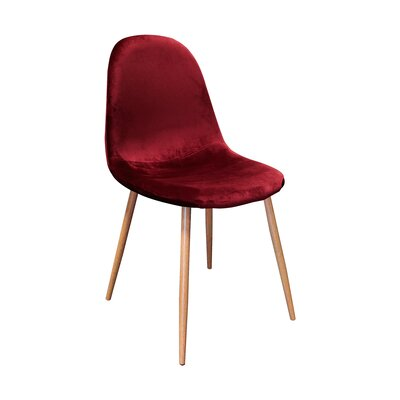 Velvet Side Chair Upholstery Color: Velvet/ Bordeaux