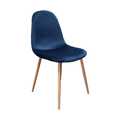 Velvet Side Chair Upholstery Color: Velvet / Blue