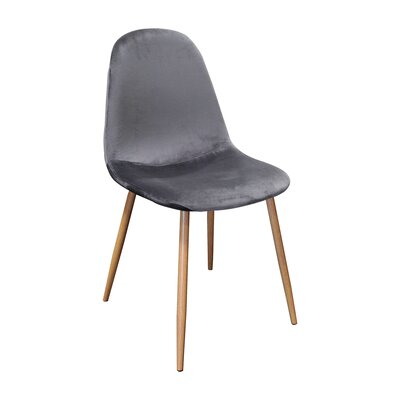 Velvet Side Chair Upholstery Color: Velvet/ Gray