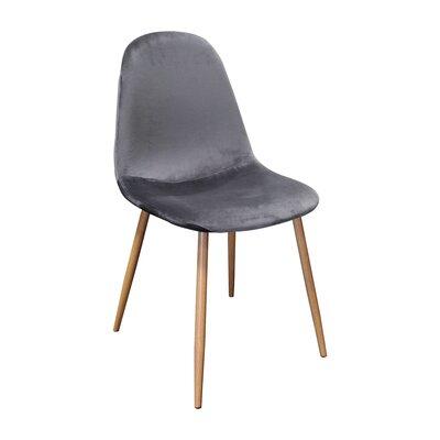Side Chair Upholstery Color: Velvet/ Gray