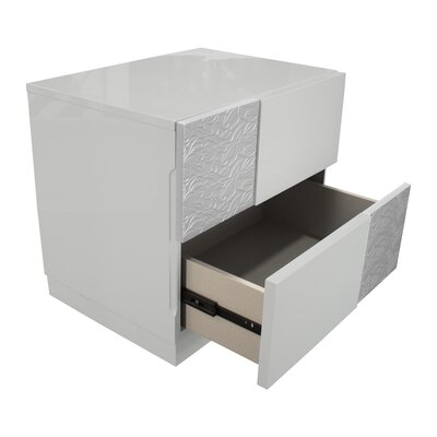 Lyset 2 Drawer Nightstand
