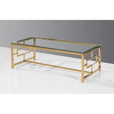 Gantz Coffee Table Color: Gold