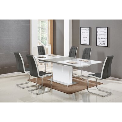 Sudha 5 Piece Extendable Dining Set Color: Gray