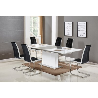 Sudha 5 Piece Extendable Dining Set Color: Black