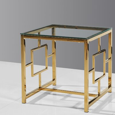 Gantt End Table Color: Gold