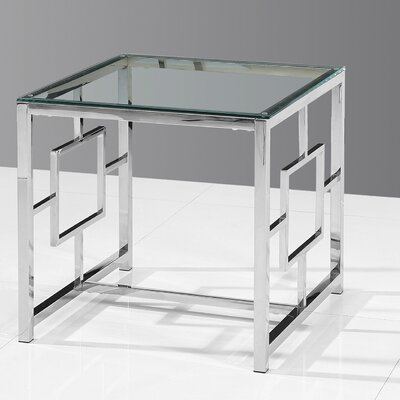 Gantt End Table Color: Silver