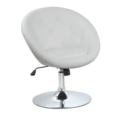 Stennis Adjustable Height Swivel Bar Stool Color: White