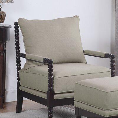 JeNae Armchair Upholstery: Beige/Espresso
