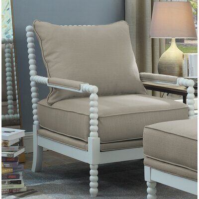 JeNae Armchair Upholstery: Beige/White