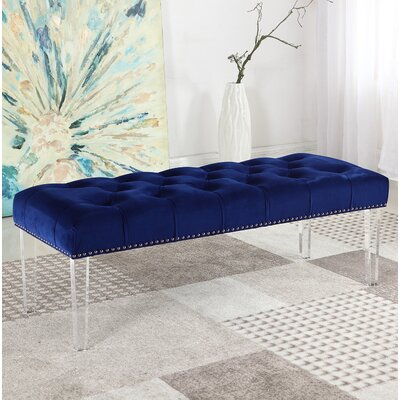 Stockbridge Upholstered Bedroom Bench Upholstery: Navy Blue