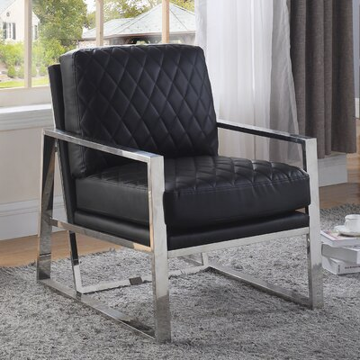 Mccollom Armchair Upholstery: Black