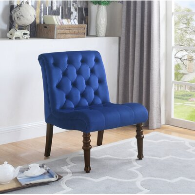 Volker Accent Slipper Chair Upholstery: Navy Blue