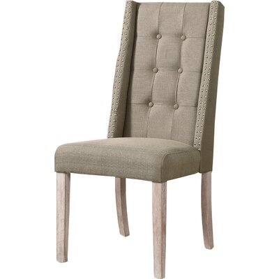 Side Chair Upholstery: Taupe