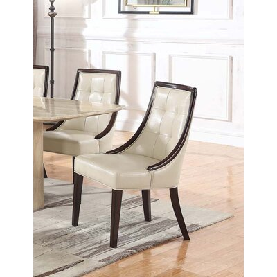 Bren Upholstered Dining Chair Upholstery Color: Ivory