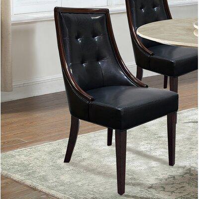 Bren Upholstered Dining Chair Upholstery Color: Black