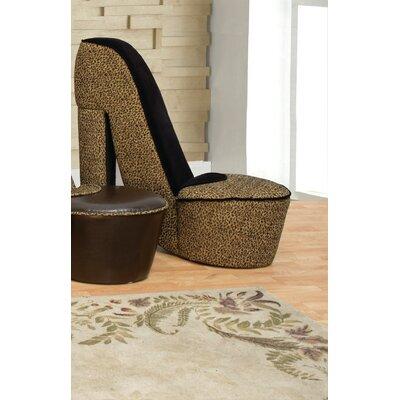 Bilton Small Side Chair Upholstery: Leopard/Black