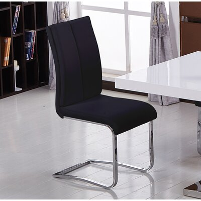 Mariam Upholstered Dining Chair Color: Black