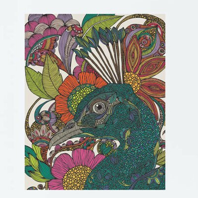 Floral Peacock Art Wall Decal 604a-17