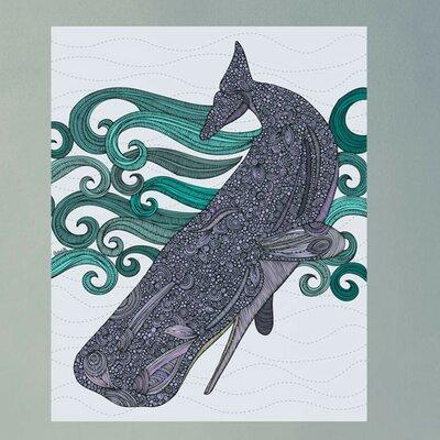 Diving Whale Ocean Art Wall Decal 607b-17