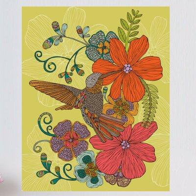 Floral Hummingbird Art Wall Decal 612a-17