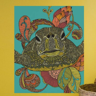 Floral Sea Turtle Wall Decal 619a-17