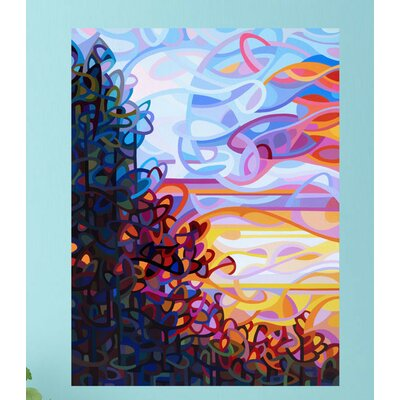 Abstract Trees at Sunset Crescendo Wall Decal Size: Extra Large