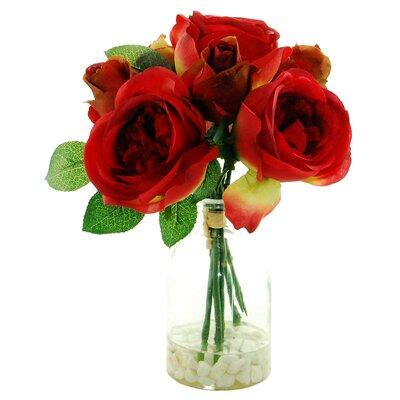 Roses Floral Arrangement Flower Color: Red