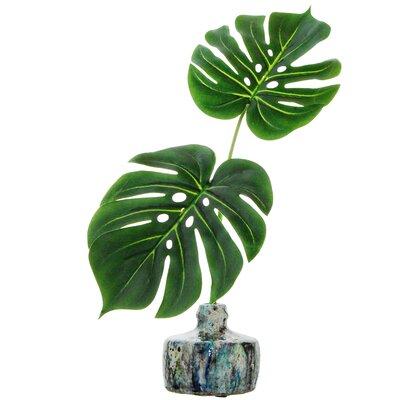 Tropical Leaves Desktop Foliage Plant in Vase