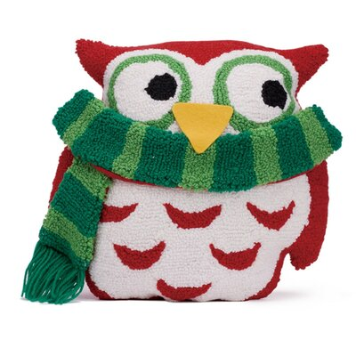 Hooked 3D Owl Christmas Throw Pillow