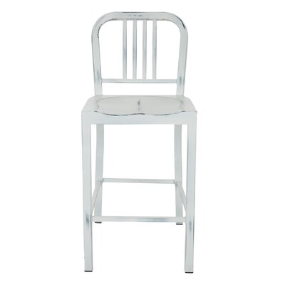 Counter Height Bar Stool Finish: White