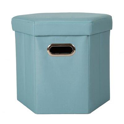 Storage Ottoman Upholstery: Aqua