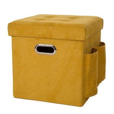 Storage Ottoman Upholstery: Yellow