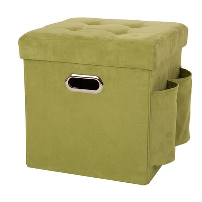 Storage Ottoman Upholstery: Green