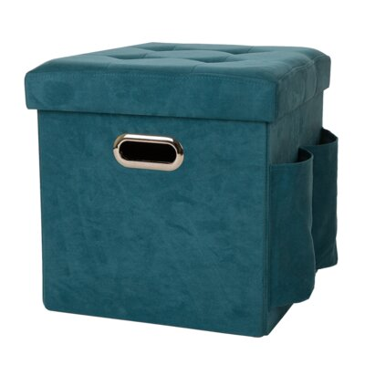 Storage Ottoman Upholstery: Turquoise