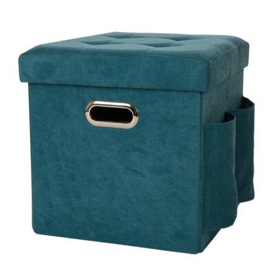 Storage Ottoman Upholstery: Turquoise