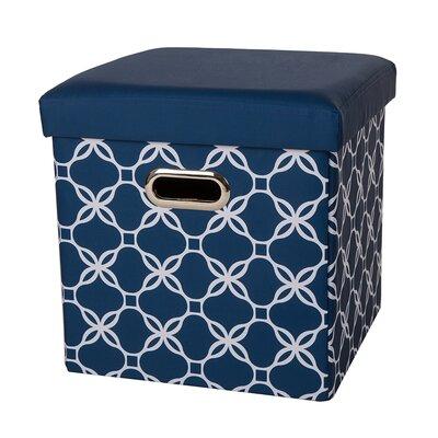 Storage Ottoman Upholstery: Navy
