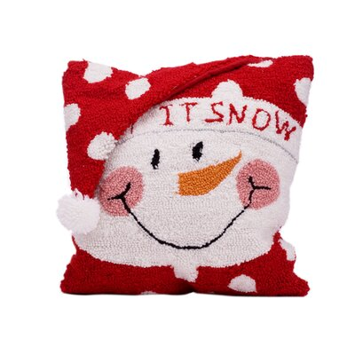 Snowman Christmas Throw Pillow