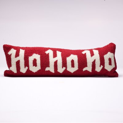 Ho Ho Ho Monogram Christmas Throw Pillow