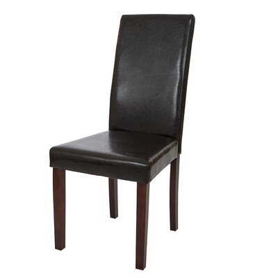 Padded Parsons Chair Upholstery: Espresso