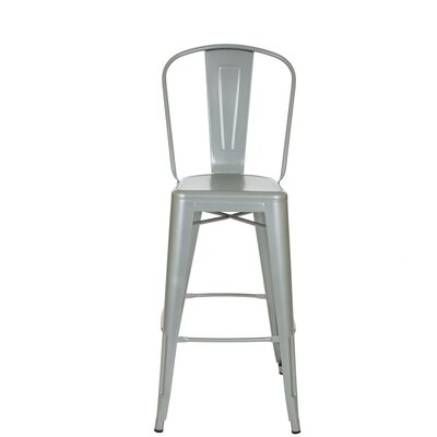 Counter Height Bar Stool Finish: Silver