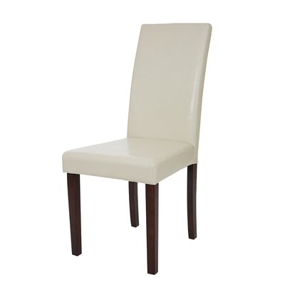 Padded Parsons Chair Upholstery: Cream