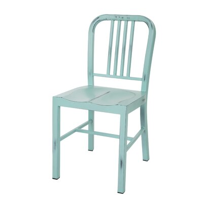 Vintage Metal Side Chair Finish: Mint Green
