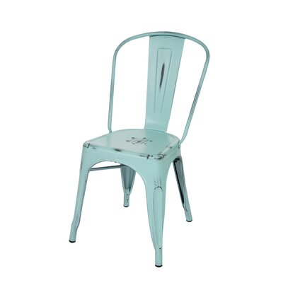 Vintage Side Chair Finish: Mint Green
