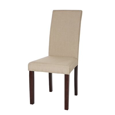 Padded Parsons Chair Upholstery: Beige