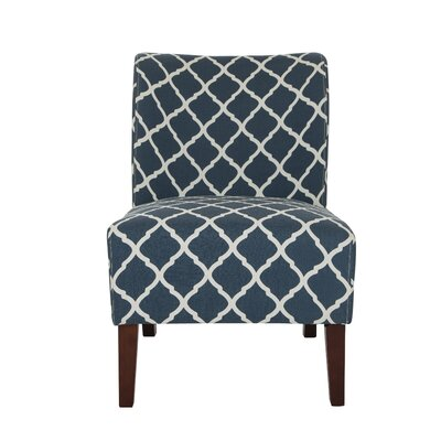 Indigo Lattice Slipper Chair