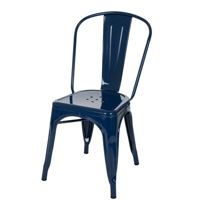 Vintage Side Chair Finish: Light Navy Blue