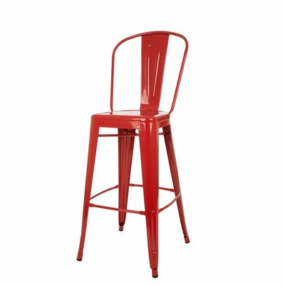 Counter Height Bar Stool Finish: Red