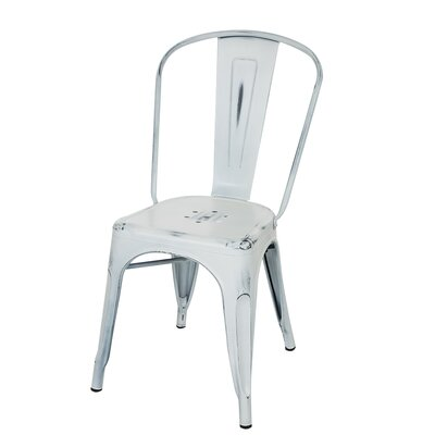 Vintage Side Chair Finish: Light White
